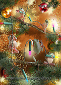 CHIARA,CHRISTMAS ANIMALS, WEIHNACHTEN TIERE, NAVIDAD ANIMALES, paintings+++++,USLGCHI487,#XA# ,funny ,funny