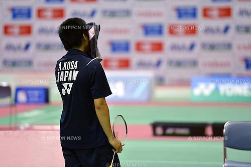 Akira Koga (JPN),.OCTOBER 28,2012 - Badminton : Yonex BWF World Junior Mixed team championships 2012 during Mixed Doubles at Chiba Port Arena, Chiba, Japan. (Photo by Jun Tsukida/AFLO SPORT) [0003].