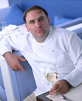 Slug: Jose Andres - Jaleo Restaurant.Date: .Photographer: Mark Finkenstaedt .Location:  Washington DC.Caption: Jose Andres Executive Chef and owner os Jaleo and Zatinya in Washington DC..© 2008 Mark Finkenstaedt. All Rights Reserved. No additional Editorial Magazine, Electronic or TV/ multimedia use beyond Designing Solutions..Contact the photographer for authorization and additional licensing..mark@mfpix.com.202-258-2613,