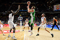 Real Madrid's player Othello Hunter and Rudy Fernandez and Unics Kazan's player Pavel Antipov during match of Turkish Airlines Euroleague at Barclaycard Center in Madrid. November 24, Spain. 2016. (ALTERPHOTOS/BorjaB.Hojas) //NORTEPHOTO