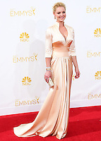 LOS ANGELES, CA, USA - AUGUST 25: Actress Katherine Heigl arrives at the 66th Annual Primetime Emmy Awards held at Nokia Theatre L.A. Live on August 25, 2014 in Los Angeles, California, United States. (Photo by Celebrity Monitor)