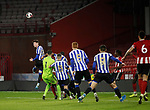 Michael Verrips of Sheffield Utd goes up for corner kick during the Professional Development League match at Bramall Lane, Sheffield. Picture date: 26th November 2019. Picture credit should read: Simon Bellis/Sportimage