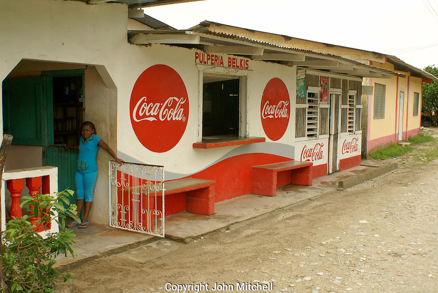 Pulperia or general store in the Garifuna village of Triunfo de la Cruz, Honduras....