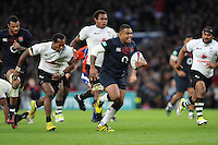 Kyle Sinckler of England sniffs the tryline during the Old Mutual Wealth Series match between England and Fiji at Twickenham Stadium on Saturday 19th November 2016 (Photo by Rob Munro)