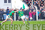 Padraig Murphy of Beal fails to stop Finuge's Enda Galvin going for a score in the Bernard O'Callaghan Memorial Senior Football Championship Final last Sunday in Ballylongford.