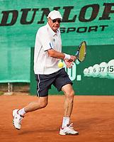 Netherlands, Amstelveen, August 21, 2015, Tennis,  National Veteran Championships, NVK, TV de Kegel,  Men's 70+, Hans Bronkhorst<br /> Photo: Tennisimages/Henk Koster