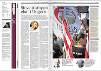 HBL/Hufvudstadsbladet (Swedish minority daily, Finland) on Hungarian right wing extremism, 2012.12.19. Photo: Martin Fejer