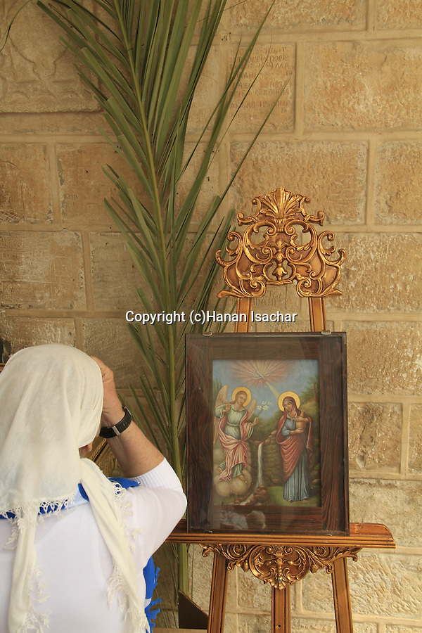 Israel, Nazareth, Annunciation Day at the Greek Orthodox Church of the Annunciation, the Church of St. Gabriel