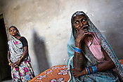 A resident of Gona village, Laxmi Devi (right) shares her reasons of admiring BSP candidate, Mukhtar Ansari..Since getting as many votes as possible is the agenda of any of the parties in UP, Mayawati's party, Bahujan Samajwadi Party (BSP) has given the tickets to criminals who have enough clout in their region. One such, Mukhtar Ansari is in jail for the past 3 years and is awaiting trails for more than two dozen alleged crimes, including murder. Inspite of being in jail, he is in touch with his loyalists and contesting for elections from jail itself. He has a stature of a modern day Robin Hood.
