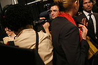 NEW YORK - FEB 4: A Max Arzia show at Fashionweek at Bryant Park, 2008. (Photo by Landon Nordeman)