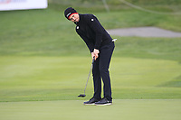 Nathan Holman (AUS) on the 9th green during Round 2 of the D+D Real Czech Masters at the Albatross Golf Resort, Prague, Czech Rep. 02/09/2017<br /> Picture: Golffile | Thos Caffrey<br /> <br /> <br /> All photo usage must carry mandatory copyright credit     (&copy; Golffile | Thos Caffrey)