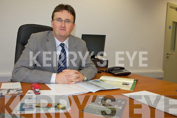 NEW POST: The new chief executive of the South Kerry Development Partnership, Noel Spillane in his office in Killorglin.
