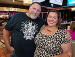 Erik and Melissa Rose from Oakland, CA attend the Billy Idol Concert in the Grand Sierra Resort's Grand Theatre on Friday night, August 7, 2015.