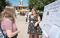 Alexis Funaki, The Children's Law Center<br /> 2018 InternLA student participants share their poster presentations about their summer experiences working as interns in Los Angeles. Summer Experience Expo, Sept. 13, 2018 in the Academic Quad. Hosted by Career Services.<br /> (Photo by Marc Campos, Occidental College Photographer)