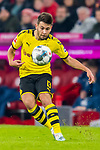 09.11.2019, Allianz Arena, Muenchen, GER, 1.FBL,  FC Bayern Muenchen vs. Borussia Dortmund, DFL regulations prohibit any use of photographs as image sequences and/or quasi-video, im Bild Raphael Guerreiro (BVB #13) <br /> <br />  Foto © nordphoto / Straubmeier