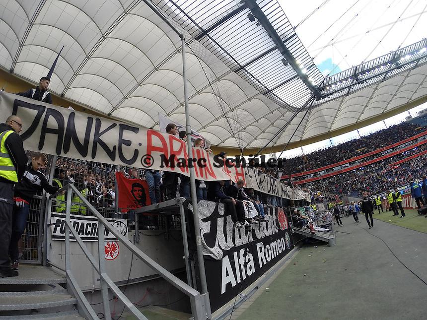 Fans von Eintracht Frankfurt- Eintracht Frankfurt vs. Bayer Leverkusen, Commerzbank Arena