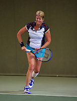 Hilversum, The Netherlands, 05.03.2014. NOVK ,National Indoor Veterans Championships of 2014 , Sylvia Lievers-Kronenburg (NED)<br /> Photo:Tennisimages/Henk Koster
