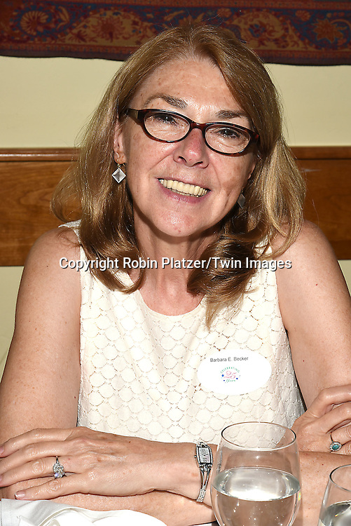 Barbara Becker  attends the Big Apple Knitters Guild 25th Annual Luncheon Gala on September 24, 2016 at Kellari Taverna in New York City, New York, USA. <br /> <br /> photo by Robin Platzer/Twin Images<br />  <br /> phone number 212-935-0770