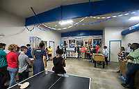 NWA Democrat-Gazette/BEN GOFF @NWABENGOFF<br /> Guests gather Thursday, June 6, 2019, during a grand opening for the new Teen Center across the street from the Boys & Girls Club in Rogers.