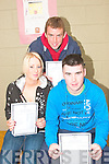 Happy with their results were students of Causeway Comprehensive School Paul O'Connor, Causeway, Sophie Casey, Ballyheigue and Martin Stackpoole, Lixnaw..   Copyright Kerry's Eye 2008