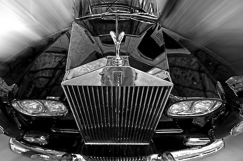 Classic Rolls Royce Black and WHite with some Photoshop magic