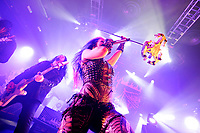 LONDON, ENGLAND - FEBRUARY 11: Sharlee D'Angelo and Alissa White-Gluz of 'Arch Enemy' performing at KOKO on February 11, 2018 in London, England.<br /> CAP/MAR<br /> &copy;MAR/Capital Pictures