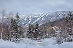 Saddleback ski area in Dallas Plantation, ME, USA