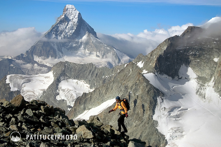 Climbing the Zinalrothorn. Zermatt, Switzerland
