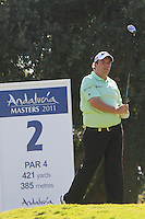 Shane Lowry (IRL) during the final day of the  Andalucía Masters at Club de Golf Valderrama, Sotogrande, Spain. .Picture Denise Cleary www.golffile.ie