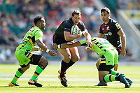 Alex Goode of Saracens takes on the Northampton Saints defence. Aviva Premiership match, between Saracens and Northampton Saints on September 2, 2017 at Twickenham Stadium in London, England. Photo by: Patrick Khachfe / JMP