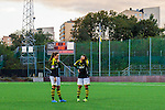 Solna 2015-10-11 Fotboll Damallsvenskan AIK - FC Roseng&aring;rd :  <br /> AIK:s Jessica Thorin och Filippa Angeldahl deppar p&aring; Skytteholms IP efter matchen mellan AIK och FC Roseng&aring;rd <br /> (Foto: Kenta J&ouml;nsson) Nyckelord:  Damallsvenskan Allsvenskan Dam Damer Damfotboll Skytteholm Skytteholms IP AIK Gnaget  FC Roseng&aring;rd depp besviken besvikelse sorg ledsen deppig nedst&auml;md uppgiven sad disappointment disappointed dejected utomhus exteri&ouml;r exterior