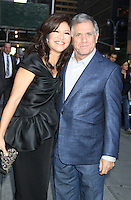 May 17, 2012: Julie Chen and Leslie Moonves at Late Show with David Letterman to talk about Conan talk show in New York City. Credit: RW/MediaPunch Inc.