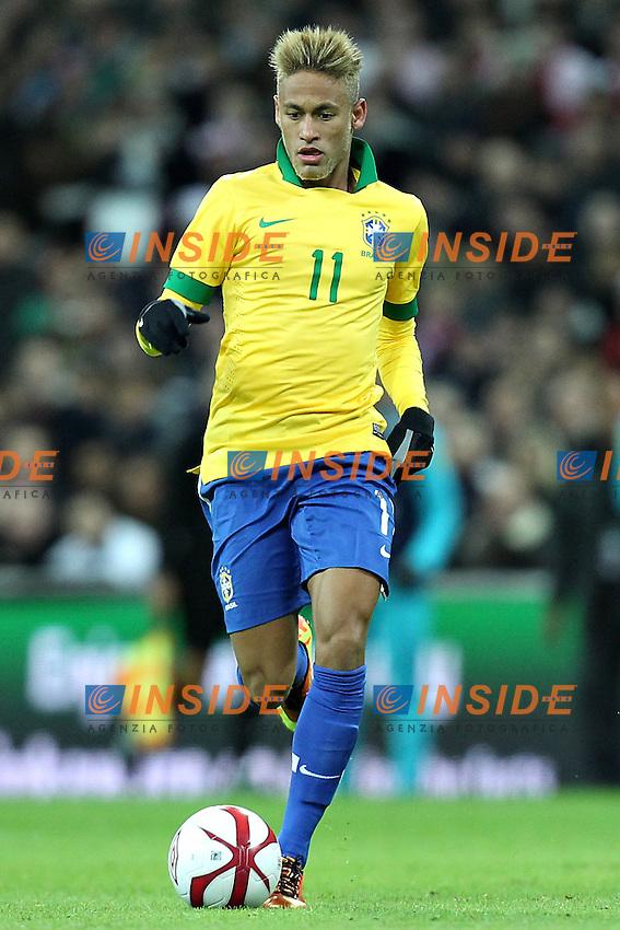 Londra 6-02-2013 Wembley Stadium.Calcio amichevole internazionale Inghilterra vs Brasile.Friendly Match England Vs Brazil .Neymar da Silva.Photo Matteo Ciambelli / Insidefoto