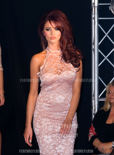 Amy Childs on the Catwalk as she shows her 2012 fashion collection..Gilgamesh Restaurant and Bar, Camden, London. 19/03/2012 Picture by: Simon Burchell / Featureflash.