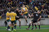 Wallabies' Bernard Foley in action during the All Blacks v Wallabies. The Rugby Championship &amp; Bledisloe Cup at Westpac Stadium, Wellington, New Zealand on Saturday 27 August 2016.<br /> Photo by Masanori Udagawa. <br /> www.photowellington.photoshelter.com.