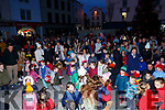 All excited waiting for the Christmas tree lights to be turned on, in the Square on Saturday evening.