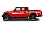 Car driver side profile view of a 2020 Jeep Gladiator Rubicon 4 Door Pick Up