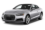 2018 Audi A5  Premium 2 Door Coupe angular front stock photos of front three quarter view