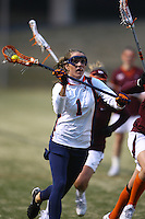University of Virginia women's lacrosse player Yeardley  Love (1) plays against Virginia Tech February 18, 2009 at Klockner Stadium in Charlottesville, VA.  George Huguely, 22, a fourth-year student from Chevy Chase, Md., has been charged with first-degree murder in the death of UVa women's lacrosse player Yeardley Love, 22, a fourth-year student from Cockeysville, Md., that took place early Monday morning May 3, 2010 in Charlottesville, Va. Photo/Andrew Shurtleff
