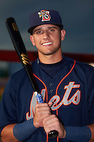 Binghamton Mets shortstop Gavin Cecchini (2) poses for a photo before a game against the Trenton Thunder on August 8, 2015 at NYSEG Stadium in Binghamton, New York.  Trenton defeated Binghamton 4-2.  (Mike Janes/Four Seam Images)