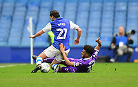Sheffield Wednesday's George Boyd is tackled by Bolton Wanderers' Derik Osede<br /> <br /> Photographer Chris Vaughan/CameraSport<br /> <br /> The EFL Sky Bet Championship - Sheffield Wednesday v Bolton Wanderers - Saturday 10th March 2018 - Hillsborough - Sheffield<br /> <br /> World Copyright &copy; 2018 CameraSport. All rights reserved. 43 Linden Ave. Countesthorpe. Leicester. England. LE8 5PG - Tel: +44 (0) 116 277 4147 - admin@camerasport.com - www.camerasport.com