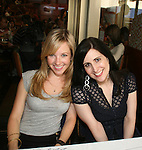 """Justis Bolding - OLTL """"Sarah Buchanan"""" poses with Stephanie D'Ambruzzo attends the 22nd Annual Broadway Flea Market and Grand Auction to benefit Broadway Cares / Equity Fights Aids on Sunday 21, 2008 in Shubert Alley, New York City, NY. (Photo by Sue Coflin/Max Photos)"""