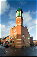 BNPS.co.uk (01202 558833)<br /> Pic: HistoricEngland/BNPS<br /> <br /> Shahjalal Jamia Masjid in Leeds.<br /> <br /> A new book from Historic England reveals the spread of Mosque building across Britain.<br /> <br /> The book provide a fascinating insight into the diversity of Britain's 1,500 mosques.<br /> <br /> They range from humble house conversions where small groups gather to magnificent purpose-built complexes which can accommodate thousands of worshippers.<br /> <br /> Architect Shahed Saleem, who has designed a mosque in Hackney, east London, has produced the first comprehensive overview of Islamic architecture on these shores in his new book, The British Mosque.