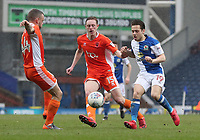 Blackburn Rovers' Jack Payne and Blackpool's Sean Longstaff<br /> <br /> Photographer Rachel Holborn/CameraSport<br /> <br /> The EFL Sky Bet League One - Blackburn Rovers v Blackpool - Saturday 10th March 2018 - Ewood Park - Blackburn<br /> <br /> World Copyright &copy; 2018 CameraSport. All rights reserved. 43 Linden Ave. Countesthorpe. Leicester. England. LE8 5PG - Tel: +44 (0) 116 277 4147 - admin@camerasport.com - www.camerasport.com