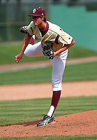 Boston College Eagles RHP Kevin Moran in action vs. NC Tar Heels at Shea Field March 28, 2009 in Chestnut Hill, MA (Photo by Ken Babbitt/Four Seam Images)