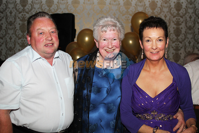 May Carpenter with Sean and Ina Finnegan at her 80th birthday party in the Star and Crescent...Picture Jenny Matthews/Newsfile.ie