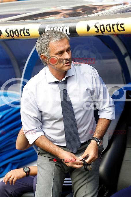 Real Madrid's coach Jose Mourinho during La Liga match.August 19,2012. (ALTERPHOTOS/Acero) /NortePhoto.com<br /> <br />  **CREDITO*OBLIGATORIO** *No*Venta*A*Terceros*<br /> *No*Sale*So*third* ***No*Se*Permite*Hacer Archivo***No*Sale*So*third*