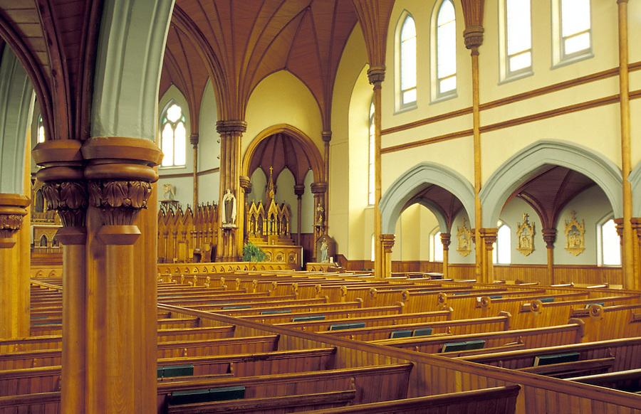 Interior of Saint Mary's Catholic Church (circ 1902), Indian River, Prince Edward Island, Canada