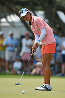 Celine Boutier (FRA) barely misses her birdie putt on 4 during round 4 of the 2019 US Women's Open, Charleston Country Club, Charleston, South Carolina,  USA. 6/2/2019.<br /> Picture: Golffile | Ken Murray<br /> <br /> All photo usage must carry mandatory copyright credit (© Golffile | Ken Murray)