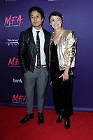 "LOS ANGELES - OCT 2:  David Huynh, Laura Roman at the ""M.F.A."" Premiere at the The London West Hollywood on October 2, 2017 in West Hollywood, CA"